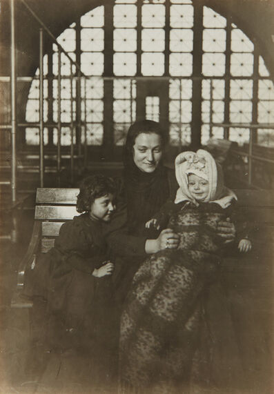 Lewis Wickes Hine, 'A Tenement Madonna, Ellis Island', circa 1905