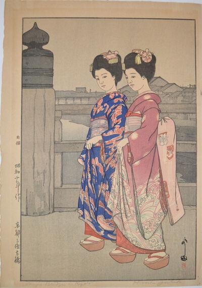 Yoshida Hiroshi, 'Sanjo Bridge - Kyoto', 1927