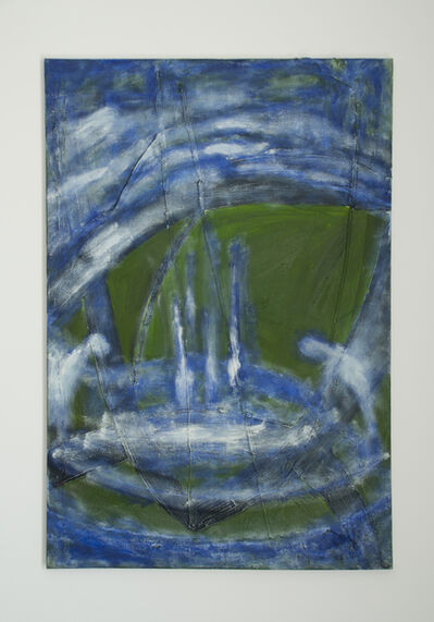 Max Ruf, 'Untitled (green, blue and white)', 2016