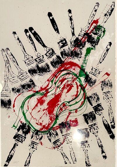 Arman, 'Empreintes de violons et pinceaux', ca. 1970