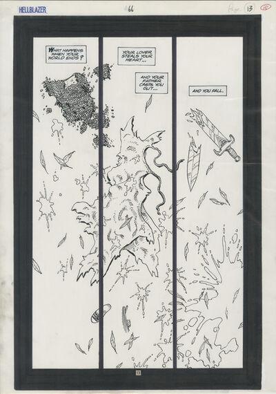 Steve Dillon, 'HELLBLAZER (1993) #66 pg 13 Origin: Archangel Gabriel splash', 1993