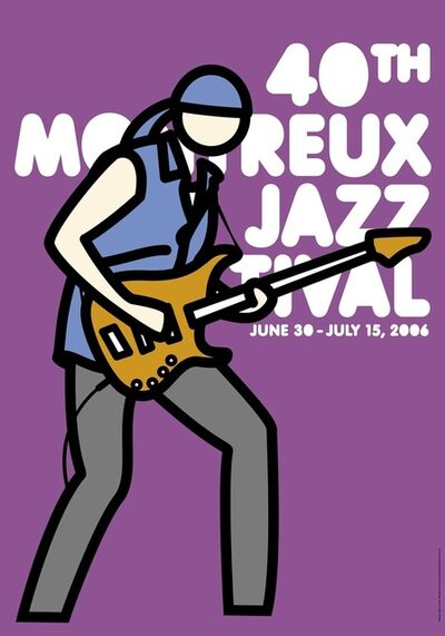 Julian Opie, 'Montreux Jazz Poster (Purple)', 2006