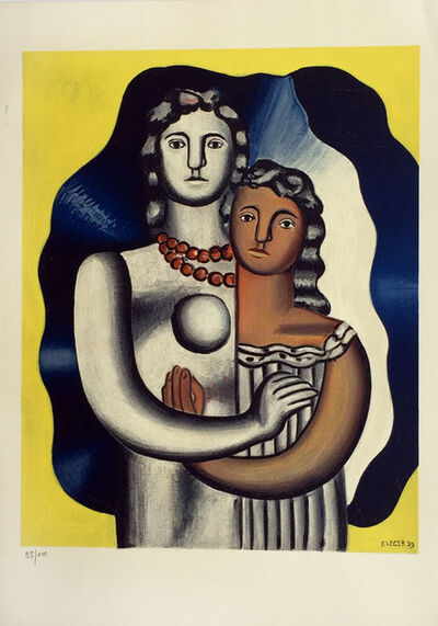 Fernand Léger, 'Les Deux Figures from 'Derriere Le Miroir'', ca. 1950
