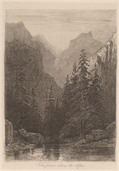 Alexandre Calame, 'Vue prise dans les Alpes', 1840/1850