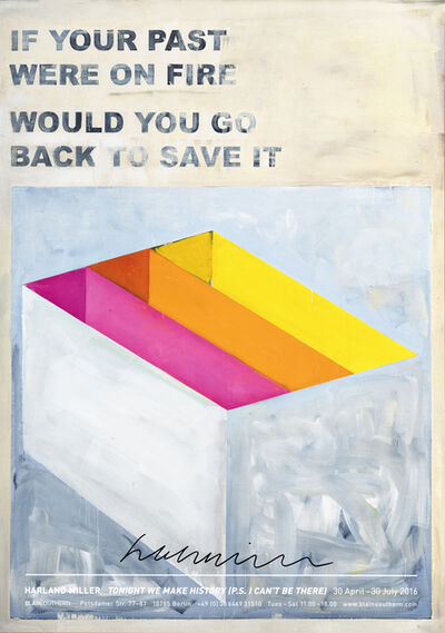 Harland Miller, 'If Your Past Were On Fire Would You Go Back To Save It', 2016