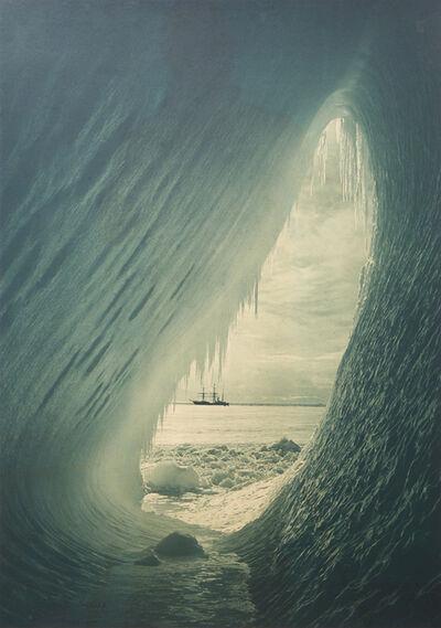 Herbert George Ponting, 'Grotto In Berg, Terra Nova In The Distance, 5 January', 1911