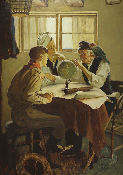 "Norman Rockwell, 'Study for ""Scouts of Many Trails""', ca. 1937"
