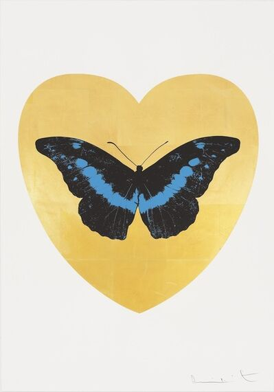 Damien Hirst, 'I Love You - gold leaf, black, turquoise ', 2015