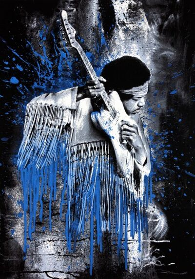 Mr. Brainwash, 'Hendrix (Blue)', 2015