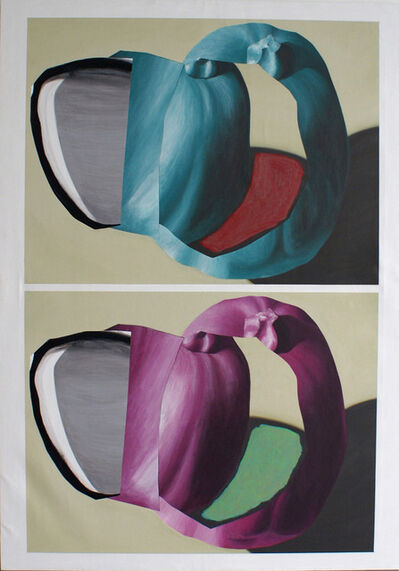 Luis Gordillo, 'Dualidad perforada', 2016