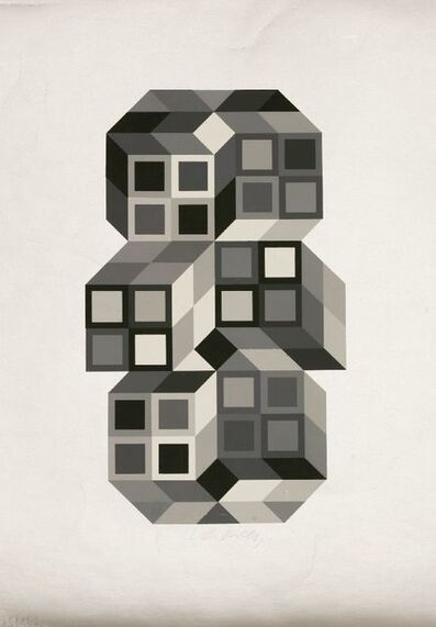 Victor Vasarely, 'COMPOSITION SILVER', 1980