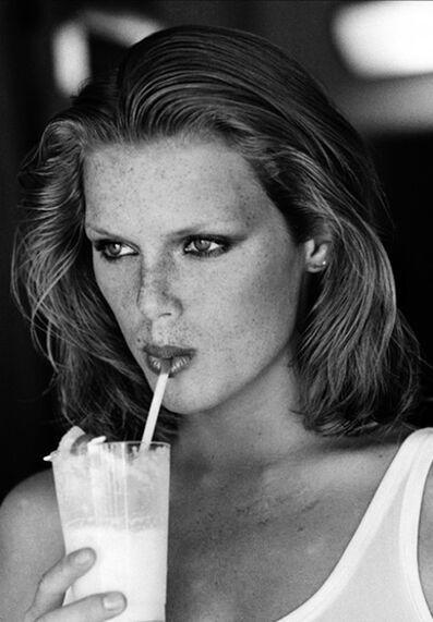 Arthur Elgort, 'Patti Hansen Sipping from a Straw, American VOGUE', 1975