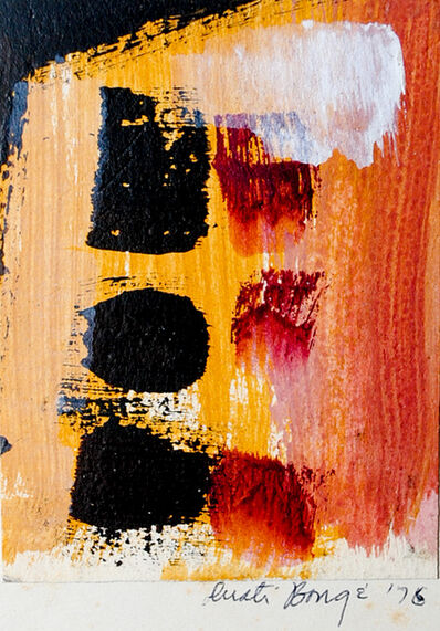 Dusti Bongé, 'Untitled (Orange, Red and Black Abstract)', 1975