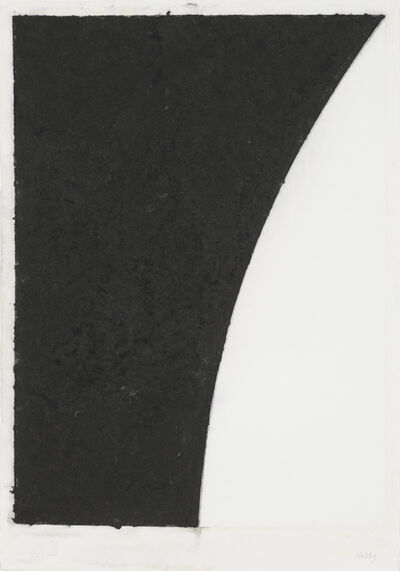 Ellsworth Kelly, 'Colored Paper Image VI (White Curve with Black II)', 1976