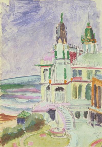Erich Heckel, 'Ostende, Casino', 1917