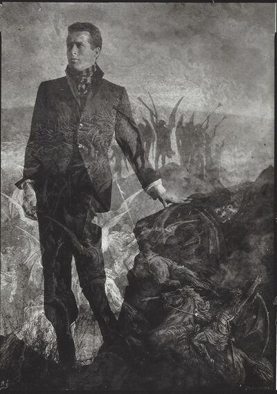 """Edmund Teske, 'Kenneth Anger & Durer """"Ascension"""", Topanga Canyon', 1954"""