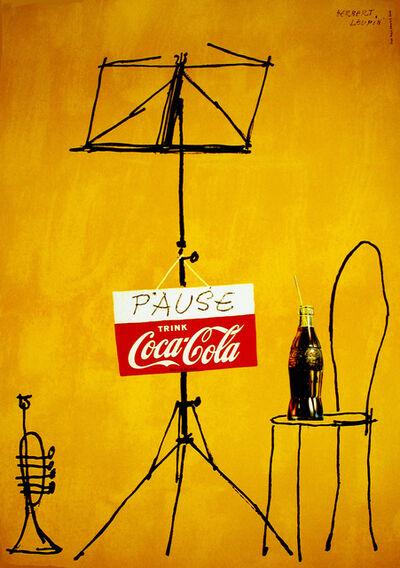 Herbert Leupin, 'Coca-Cola - Pause and Drink Coke - Trumpet', 1953