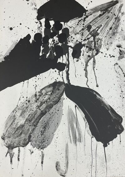 """Walasse Ting, 'Unsigned states for the lithographs """"Star Umbrella""""  (Black #6)', 1967"""