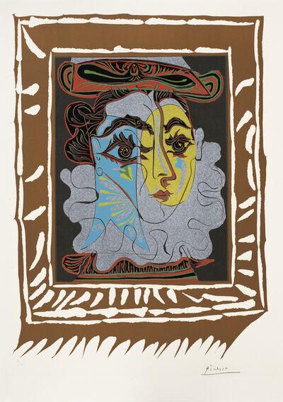 Pablo Picasso, 'Portrait de femme à la fraise et au chapeau', 1962