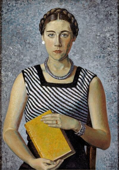 Gino Severini, 'Portrait of Mrs. Severini', 1934