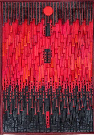 Abdoulaye Konaté, 'Le rouge et le noir (au cercle)', 2020