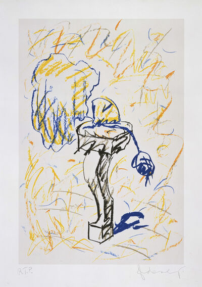 Claes Oldenburg, 'Perfume Atomizer, On A Chair Leg (line version)', 1997