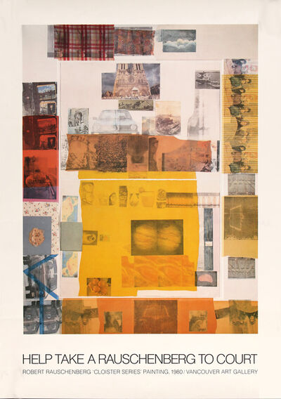 Robert Rauschenberg, 'Help Take A Rauschenberg to Court, Cloister Series, Painting, 1980.Vancouver Art Gallery, HOLIDAY SALE $150 OFF THRU MAKE OFFER', 1980