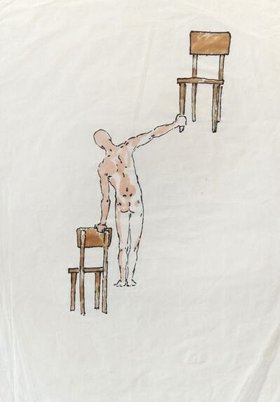Antonio Hin-yeung Mak, 'Untitled (Man and two chairs)', ca. 1975-1990