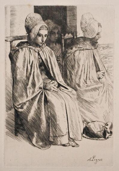 Alphonse Legros, 'Paysannes des Environs de Boulogne (Peasant women from near Boulogne)', 1873