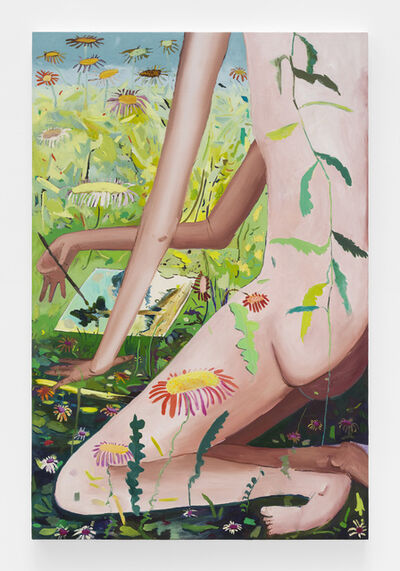 Jasmine Little, 'Drawing in a Meadow', 2017