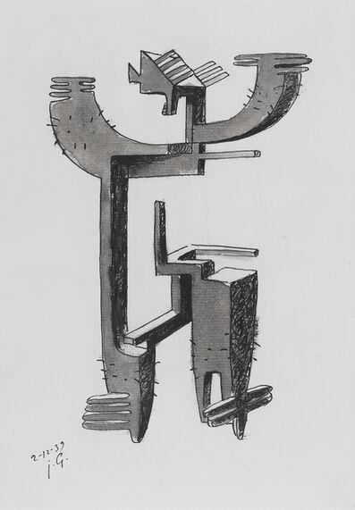 Julio González, 'Etude pour homme cactus', 1939
