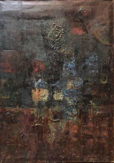 Stefan Alexander, 'Large Oil Painting Abstract Israeli Mid Century Modernist', Mid-20th Century