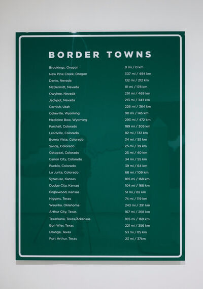 David Taylor, 'Border Towns', 2016