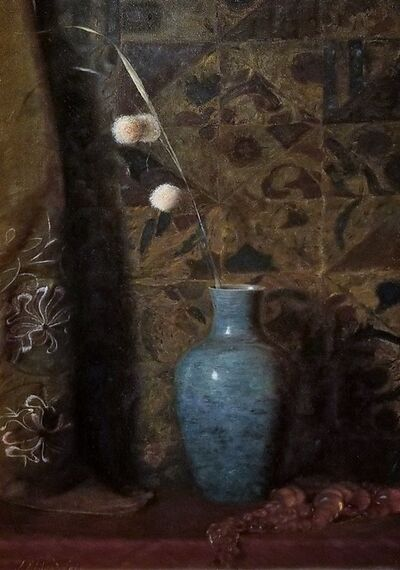 Julian Alden Weir, 'The Blue Vase', ca. 1880