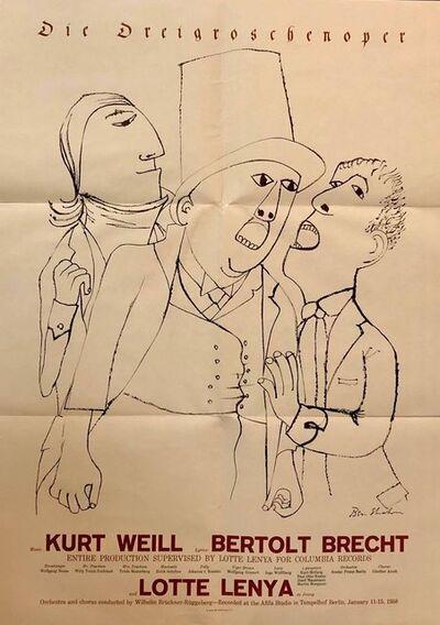 Ben Shahn, 'Vintage 1950s Ben Shahn Poster Brecht Threepenny Opera', 1950-1959