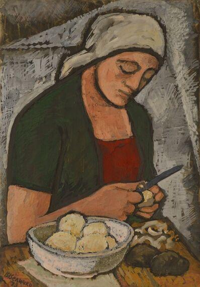 Vadim Semenovich Velichko, 'Peeling potatoes', 1953