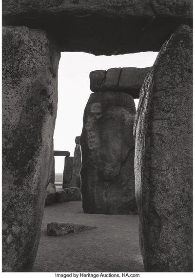 Paul Caponigro, 'Stonehenge, Inner Trilithon Through Circle Stones', 1970