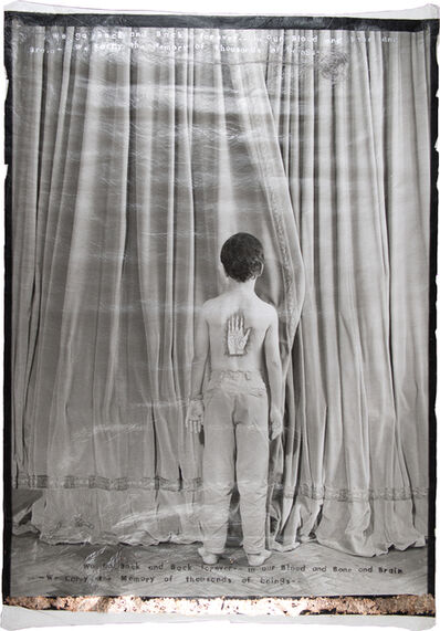 Lesley Dill, 'Ges in Front of Curtain', 2000