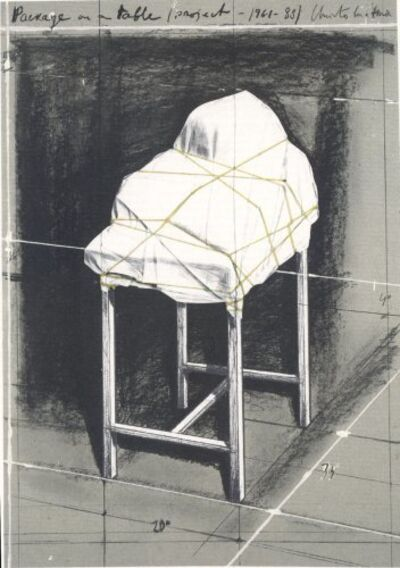 Christo, 'Package on a table', 1989