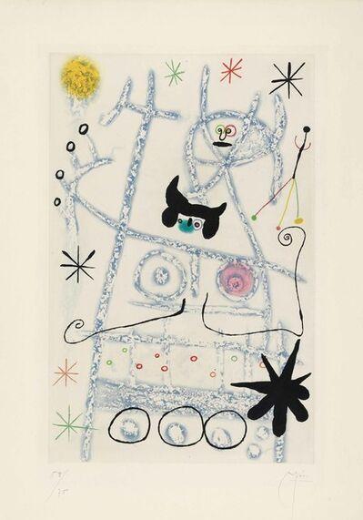 Joan Miró, 'Les Forestiers (bleu)', 1958