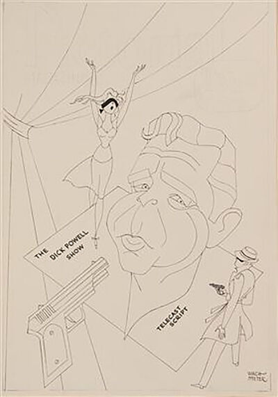 "George Wachsteter, 'Caricature of ""The Dick Powell Show""', 1962"