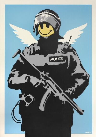 Banksy, 'Flying Copper', 2003