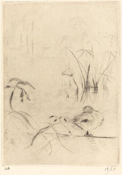 Berthe Morisot, 'Ducks at Rest on the Bank', 1888/1890