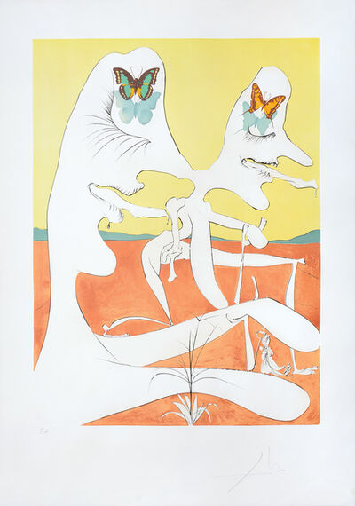 Salvador Dalí, 'Papillons de l'anti-matière (Anti-matter with Butterflies)', 1974