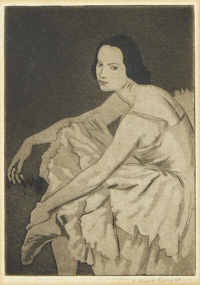 Dame Laura Knight DBE RA RWS, 'Dancer Resting', 1923