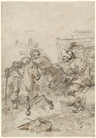 Jean-Honoré Fragonard, 'Don Quixote Attacking the Biscayan', 1780s