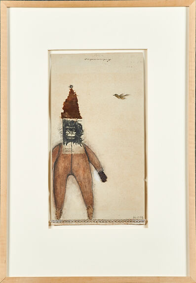 Deborah Barrett, 'Untitled (Figure and Bird) and Untitled (Figure with Shadow)'