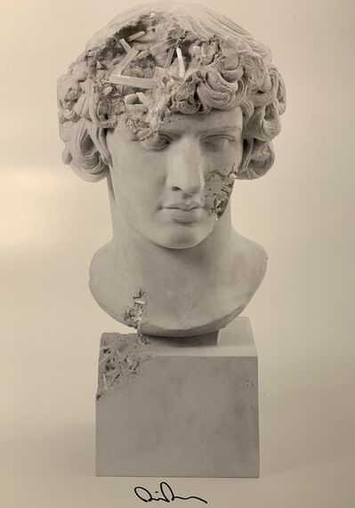 Daniel Arsham, 'DANIEL ARSHAM GRAY SELENITE ERODED ANTINOUS AS BACCHUS Signed & Numbered Street Art', 2020