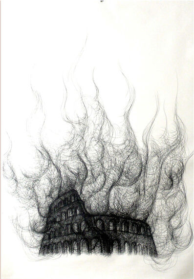 Paolo Canevari, 'Burning Colosseum', 2007