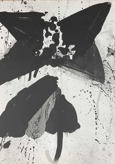 """Walasse Ting, 'Unsigned states for the lithographs """"Star Umbrella""""  (Black #8)', 1967"""